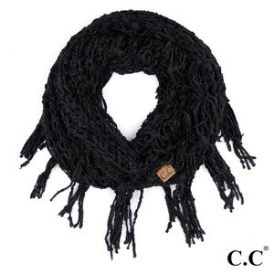 NWT Black Chenille Infinity Scarf FLASH SALE!!!